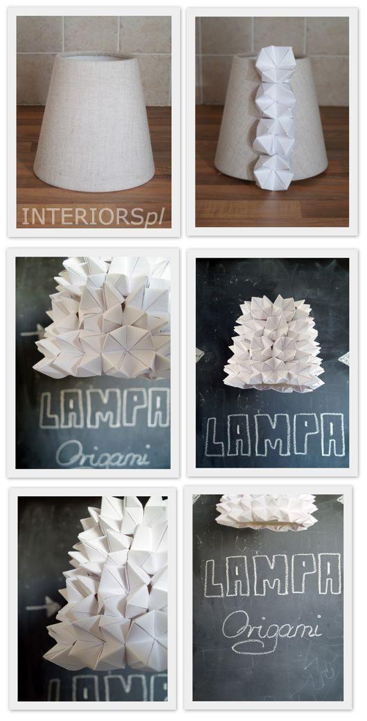 Origami lamp shade - via InteriorsPL.com