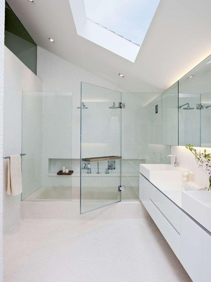 Modern White Bathroom Modern Bathrooms Dream Bathrooms Minimalist Bathroom  Bathrooms Decor Beautiful Bathrooms Coastal Style Bathrooms