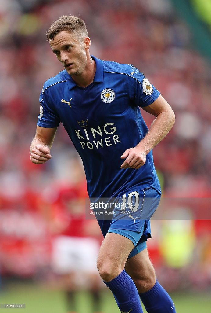Andy King of Leicester City during the Premier League match between Manchester United and Leicester City at Old Trafford on September 24, 2016 in Manchester, England.