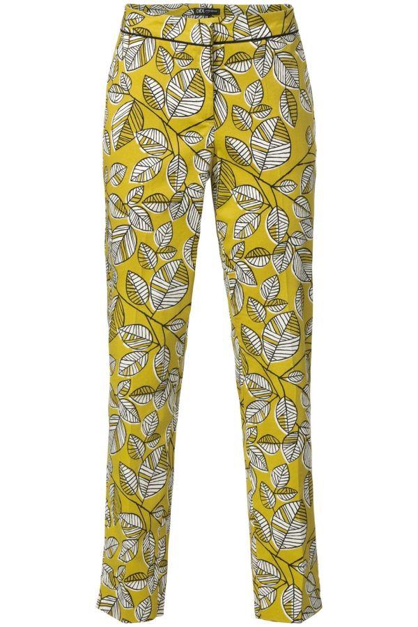 Pantalon met print Oker