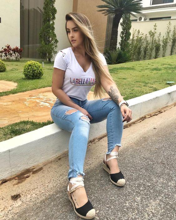 0b62f51b8 CALÇA JEANS | Chicas em 2019 | Sexy jeans, Fashion e Girl fashion