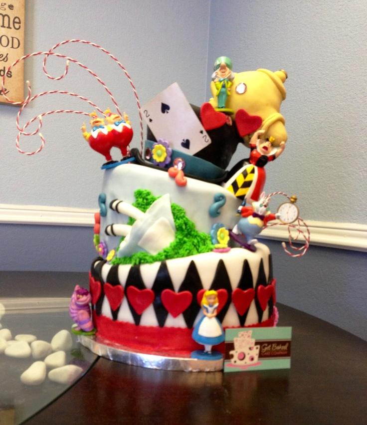 alice in wonderland cake baby shower cake alice fell in the rabbit