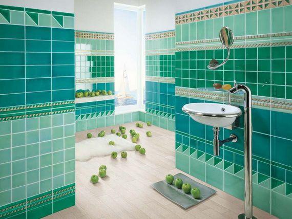 Bathroom Tile Ideas Blue 43 best creative uses of tile images on pinterest | room, bathroom