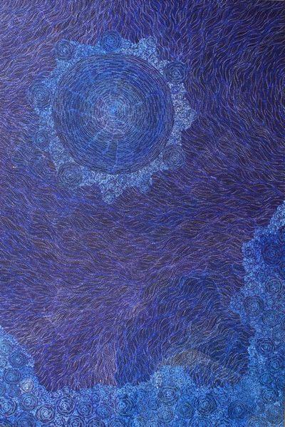 Sarita king SS-DDSKCA17225912130-SK-Ancestors-172x259cm-Purple-Blue.jpg (400×599)