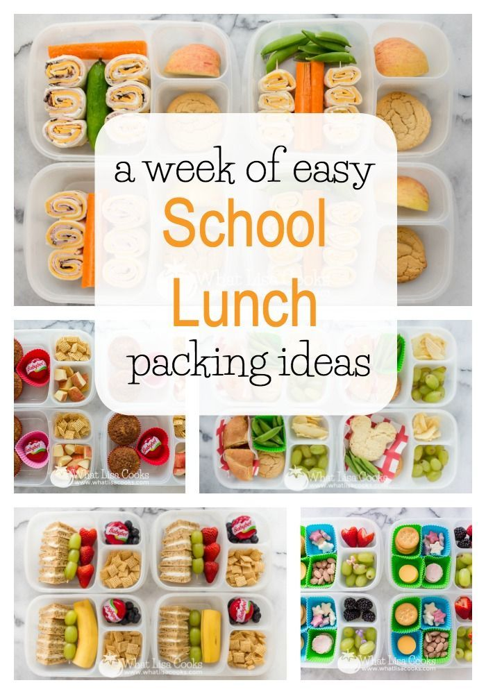 A week of easy school lunch packing ideas from WhatLisaCooks.com