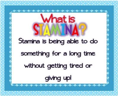 Mrs. Kincaid's First Grade: Building Stamina!