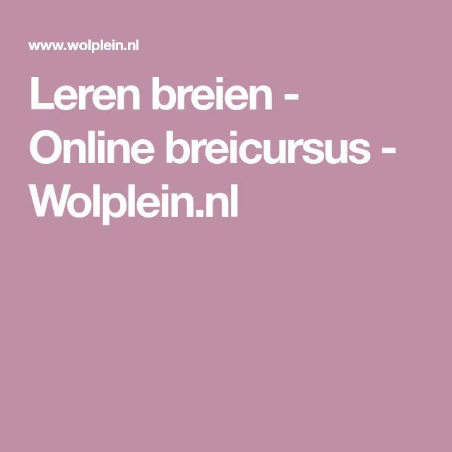 Leren breien - Online breicursus - Wolplein.nl