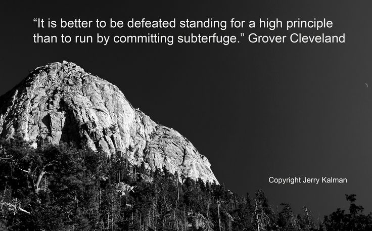 #Quotograph: Timely #election quote by Grover Cleveland with picture at #Idyllwild,CA and #MountSanJacinto