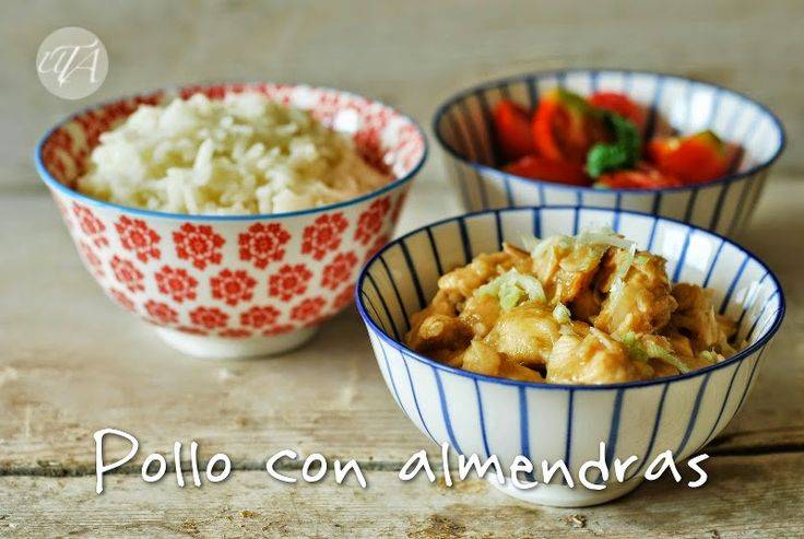Un toque de azafrán: pollo con almendras (Chicken with almonds, Chinese recipe)