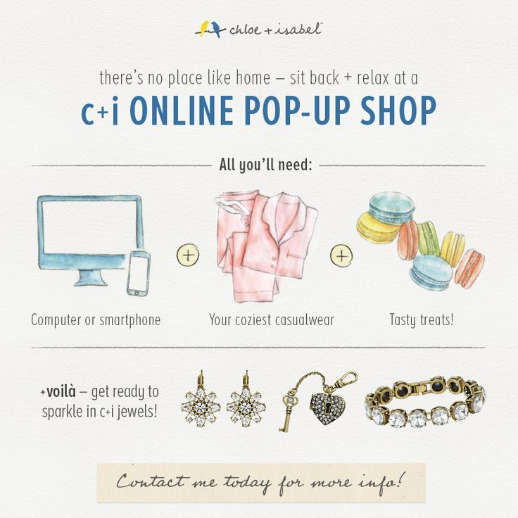 If you love the chloe + isabel jewelry I have, let me help you get it free! Your friends can simply shop online together, and you'll get credits!