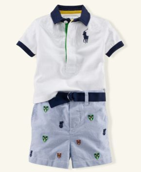 Preppy little boy - so cute - my son-in-law will kill me!!!!   But it is so hard to find cute things for boys!!!  I like it!!