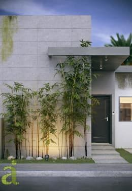Projekty, minimalistyczne Domy zaprojektowane przez arQing