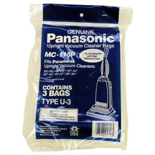 THIS PANASONIC 3 PACK IS DESIGNED TO WORK WITH SELECT PANASONIC VACUUM CLEANERS. FOR OPTIMUM PERFORMANCE, CHANGE YOUR BAG EVERY 1-2 TO MONTHS. FULL BAGS LEAD TO REDUCED SUCTION AND INHIBIT THE CLEANING PROCESS. TO MAXIMIZE LIFE SPAN, STORE IN A CLEAN, DRY PLACE.
