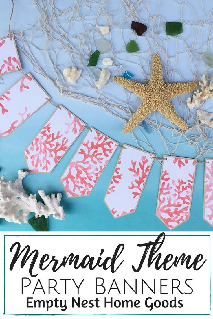 Mermaid Party Banners Ideas Under The Sea C Reef