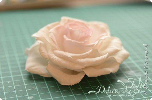 Мастер-класс: Распустившаяся роза Paris из фоамирана фото 1