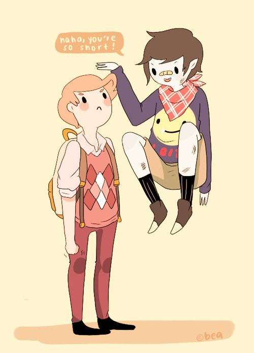 Marshall Lee and Prince Gumball #Adventuretime