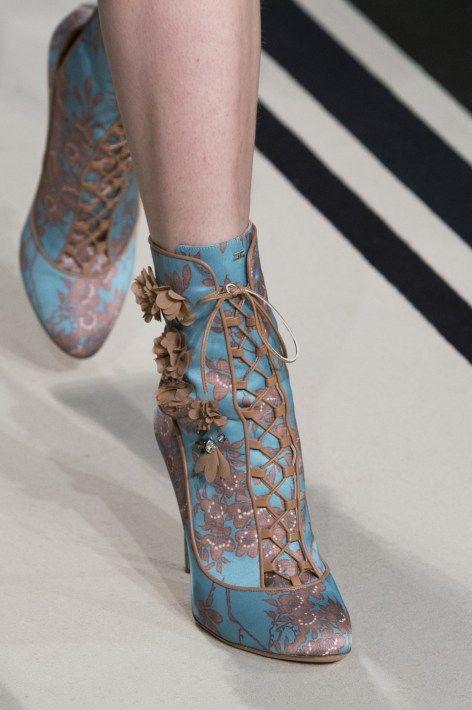 Feeling a little daring - try these blue boots! Elisabetta Franchi Fall 2017Fall 2017 Fashion Show Details, Milan Fashion Week