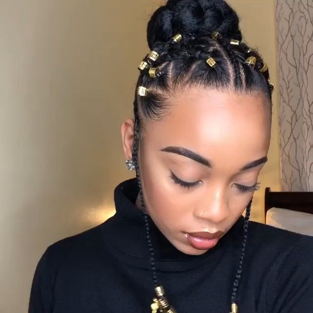 Crownedk Tag A Friend With Short 4c Hair Crownedk Rubber Band Bun Wi Natural Hair Styles For Black Women Natural Hair Updo Natural Hair Bun Styles