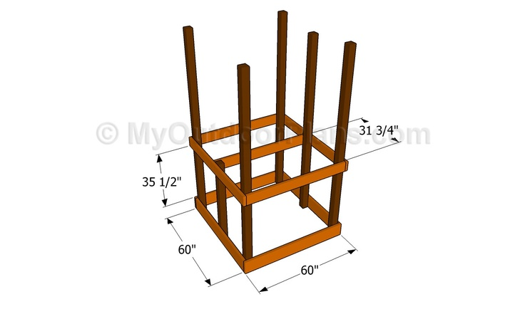 Wooden swing set design free woodworking projects plans for Playground building plans