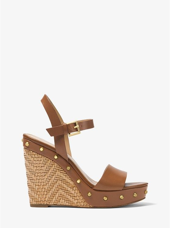 6159df7023 ... wedge sandals on the official Michael Kors site. Ellen Leather  Wedge_preview1