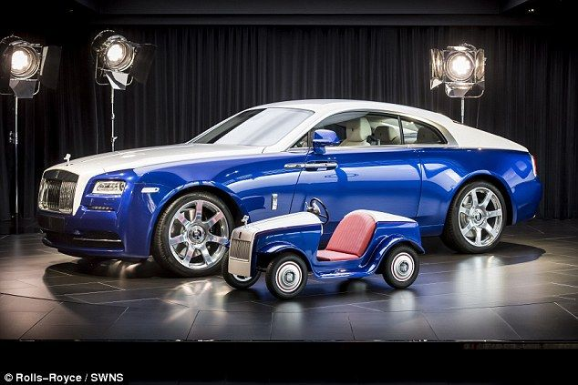 The luxury car brand Rolls-Royce has unveiled a new single seat electric sports car for children to drive around hospital
