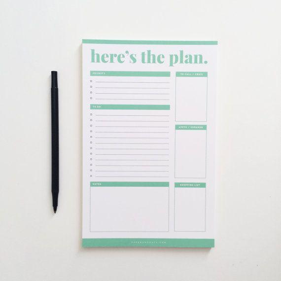 Zu tun Liste Editor Planner / täglich pro von paperandoats auf Etsy