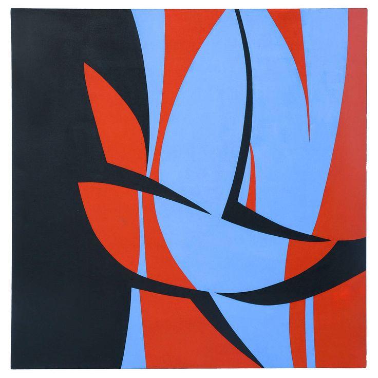 June Harwood 1974 Hard Edge Painting 1