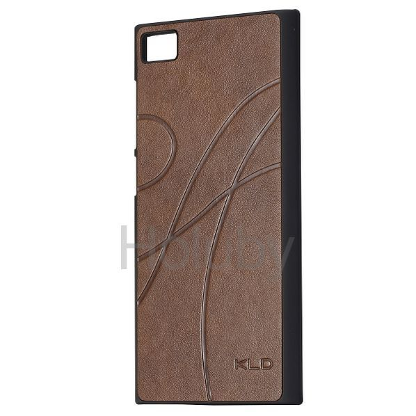 Luxury KLD Leather Coated Outside and Oil Coated Inside Hard Case for Miui MI3 (Brown)