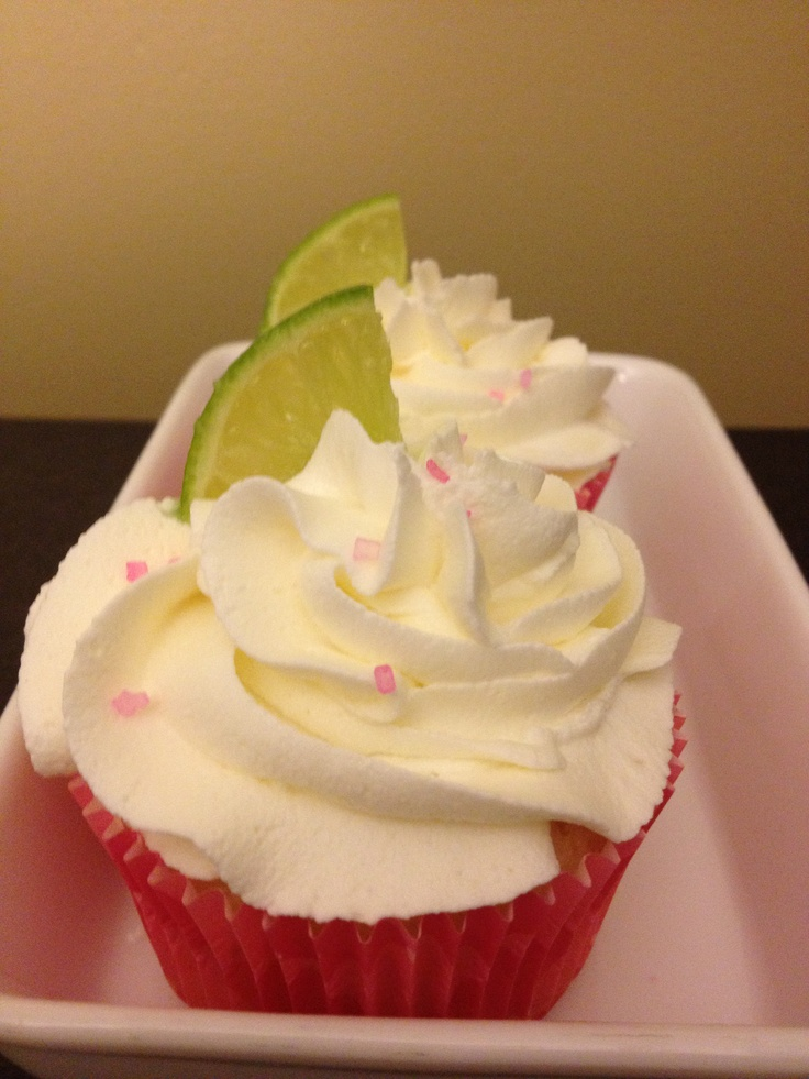 Coconut Lime Cupcakes! Lime flavoured cake with Coconut Buttercream. DELISH!