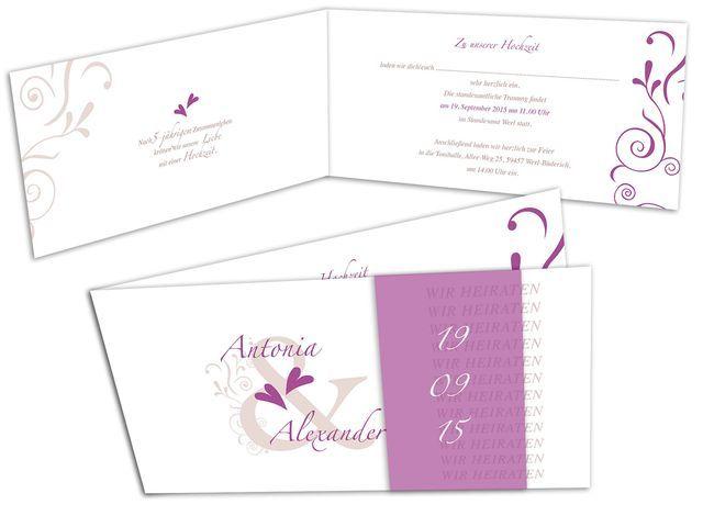 Hochzeitskarten+-+Zwei+Herzen+im+Gleichklang