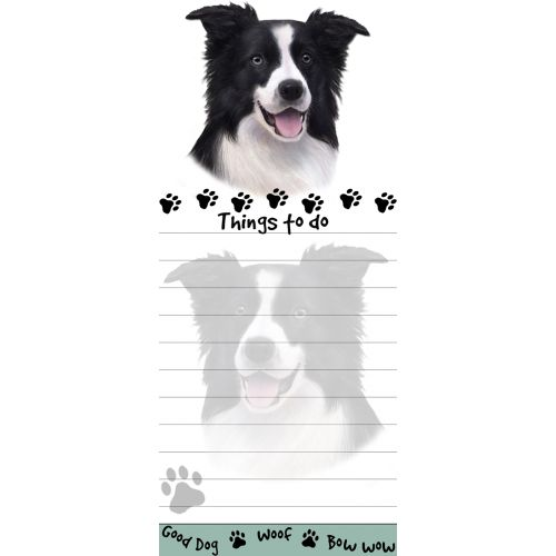 Border Collie Things To Do List Pad