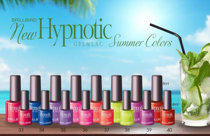 New Hypnotic Gel& Lac colors Summer 2015