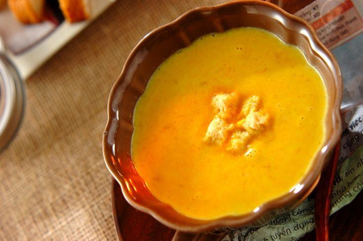カボチャの食感が素朴なポタージュ。お好みの加減にカボチャをつぶしてください。ミキサーなしでできるカボチャのポタージュ[洋食/シチュー・スープ]2015.11.20公開のレシピです。