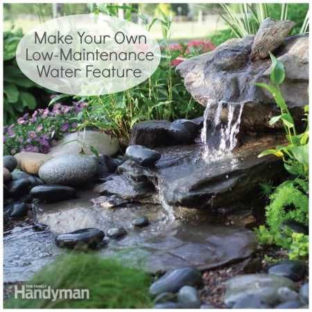 How to make your own low maintenance water feature water for Creating a low maintenance garden