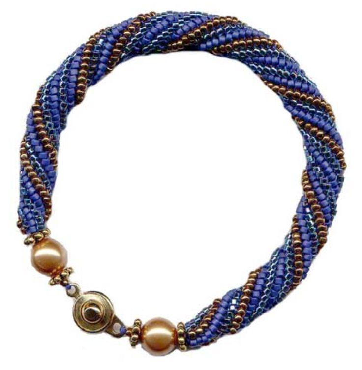 Herringbone Helix Beaded Bracelet Pattern at Sova-Enterprises.com