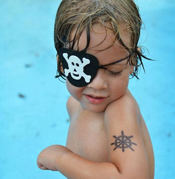 nautical party favours 24 temporary tattoos (anchor, ships wheel and paper boat) by pepperink on Etsy