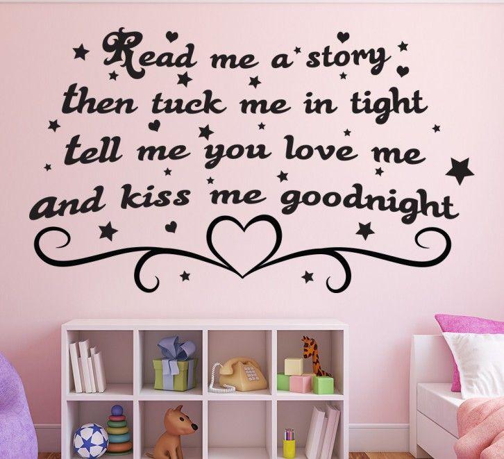 Read me a story kids bedroom wall art sticker