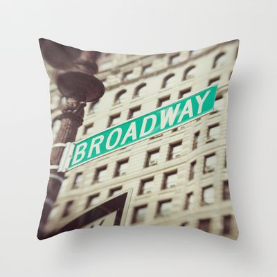Broadway  Throw Pillow by Carmen Moreno Photography  - $20.00