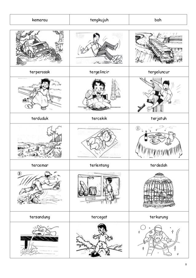 Gambar Kosa Kata Malay Language School Worksheets Teaching Activities