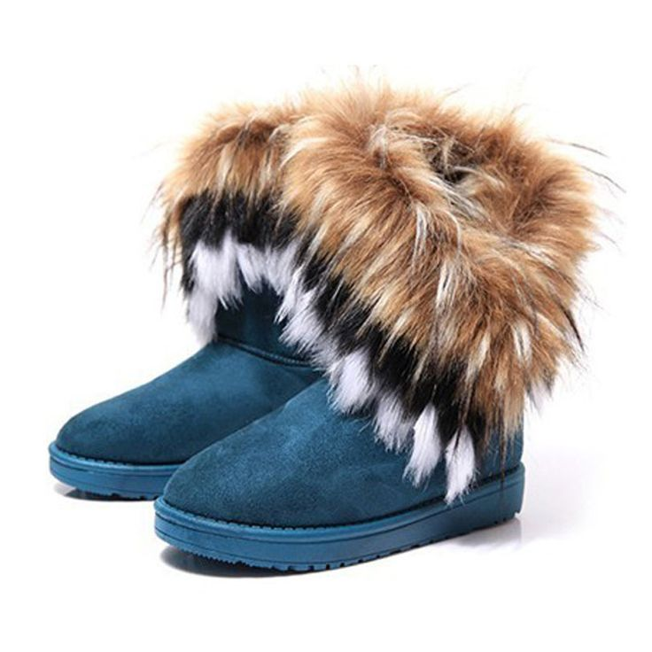 Women's Bohemian Winter Furry Boots with Long