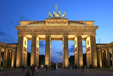 Brandenburg Gate at the sunset
