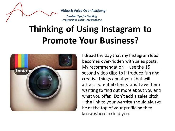 How to promote your business on Instagram without using a sales pitch. It's all about letting people get to know you.