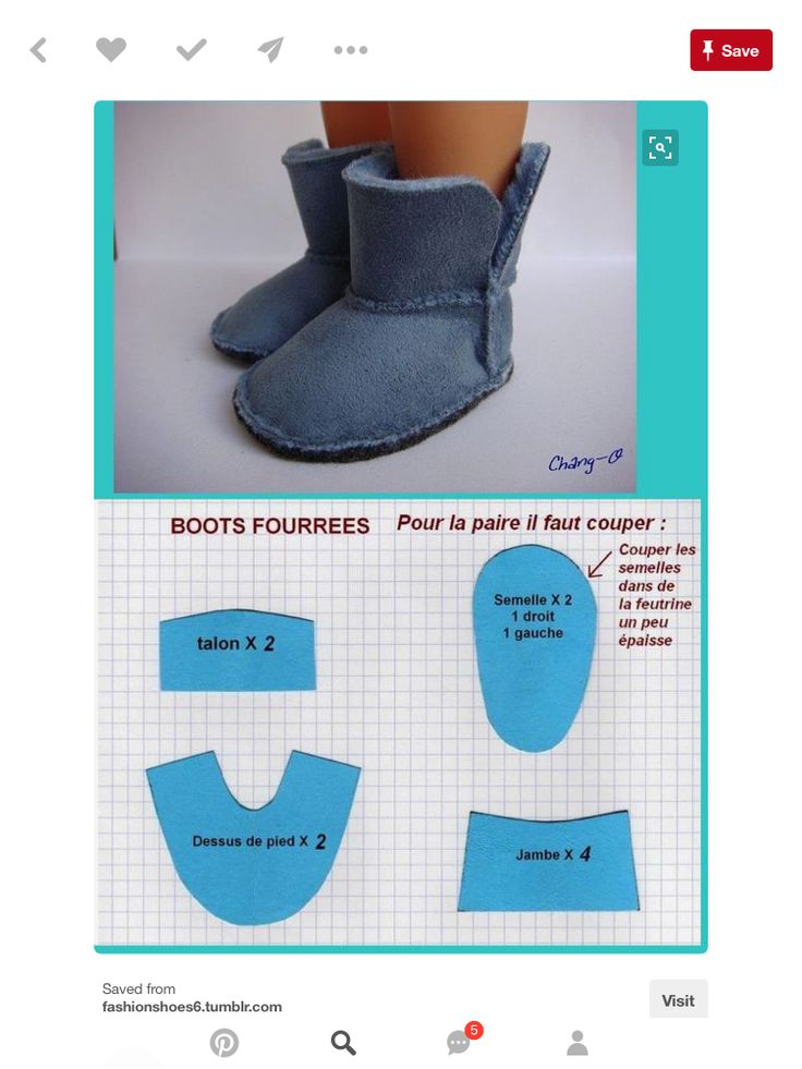 "Pattern for sewing your own ugg-style boots for your AG/18""dolls. Yeah it's in French but the concept is super easy!"