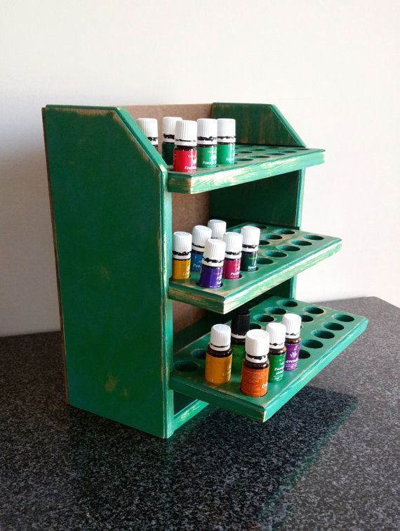 Essential oil storage shelf 72ct-shabby by MySquareWoodworking Please apply the promo code at check out to receive your $10.00 discount.  Promo code: THXPAYITFORWARD10OFF