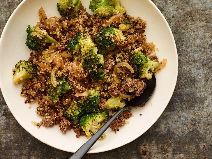 Beef And Broccoli Quinoa Bowl Recipe Quinoa Bowl Recipe Healthy Ground Beef Beef Recipes