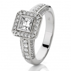 Je t'aime 18ct White Gold Diamond Engagement Ring From Showcase jewellers. In store now!