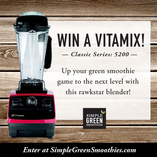 Giveaway! Red Classic Series 5200 Vitamix Blender. www.SimpleGreenSmoothies.com