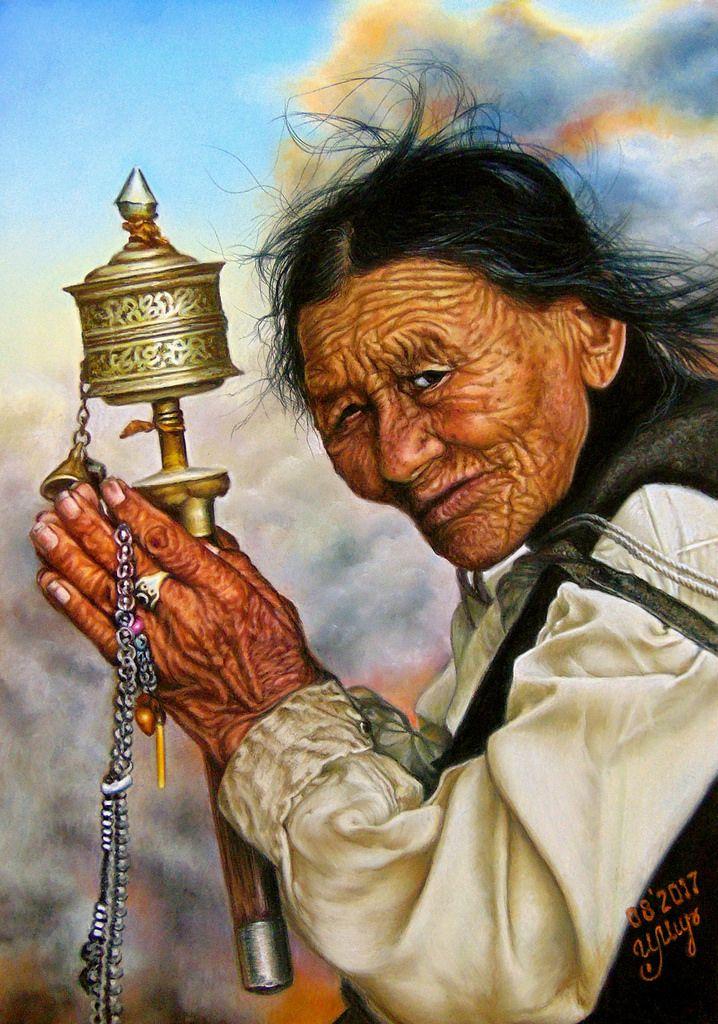 Dry pastel painting, Pastelmat, 35*50 cm
