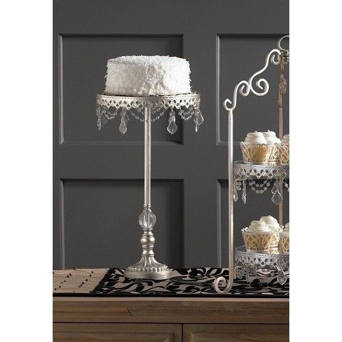 JosieCat68 on Ebay.com  Antiqued-Cake-Stand-For-Wedding-Cakes-Cupcake-Mirrored-Chic-Shabby-Tall-Pedestal