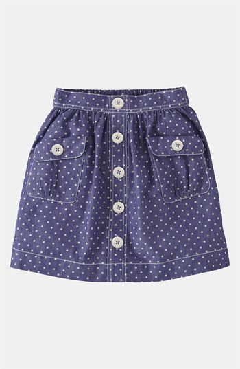 Mini Boden 'Spotty' Chambray Skirt (Little Girls  Big Girls) | Nordstrom